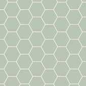 Graham & Brown Easy vliesbehang honingraat hexagoon groen 101811 10 m x 52 cm