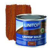 Linitop Solid houtbescherming zijdeglans teak 500 ml