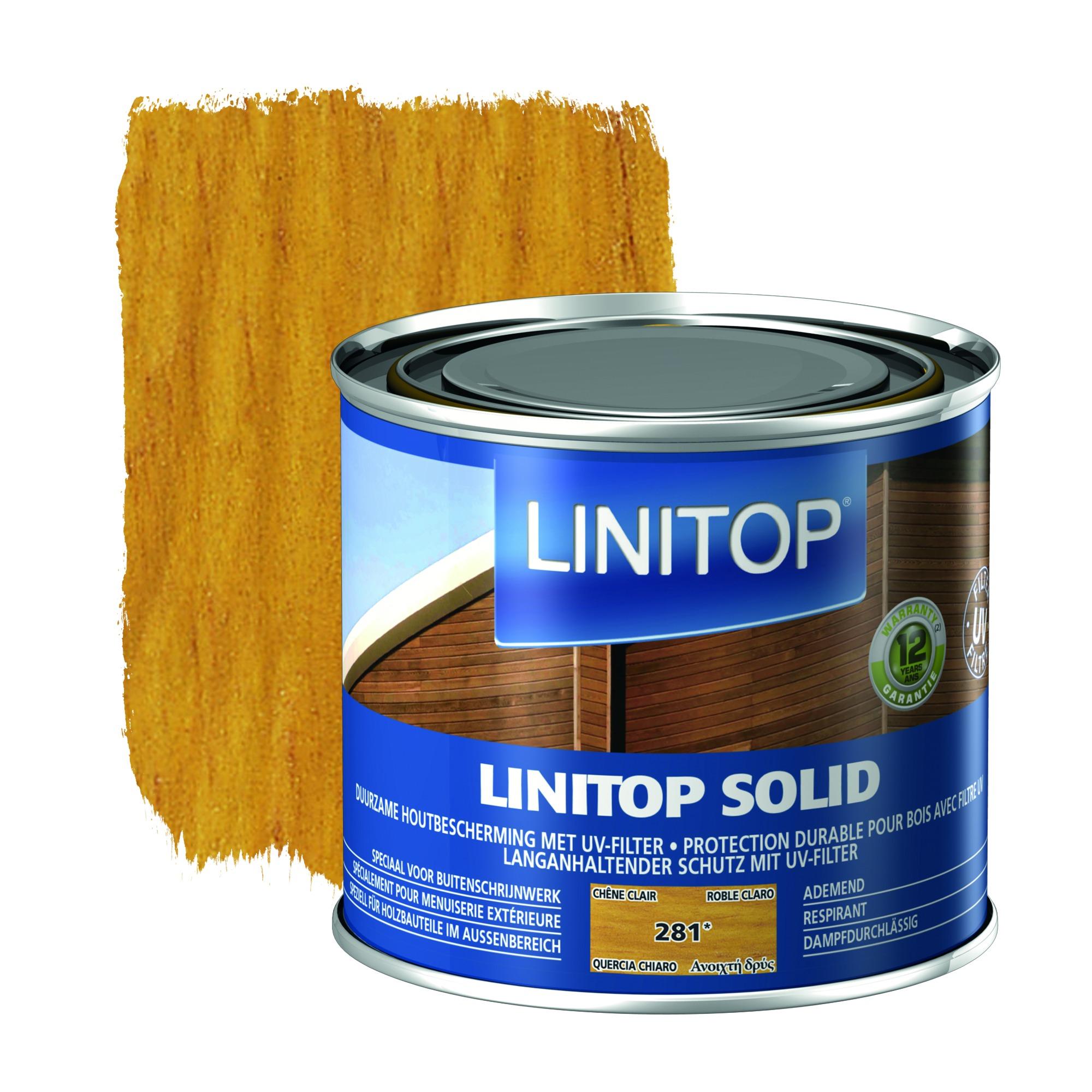 lasure linitop solid satin ch ne clair 500 ml vernis huiles lasures papier peint. Black Bedroom Furniture Sets. Home Design Ideas