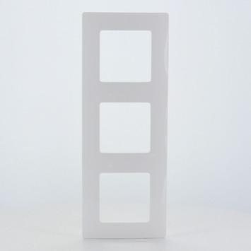 Plaque de finition triple Niloé Legrand blanc