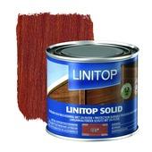 Linitop Solid houtbescherming zijdeglans mahonie 500 ml