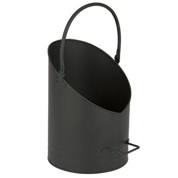Pelletemmer hoogte 40 cm zwart
