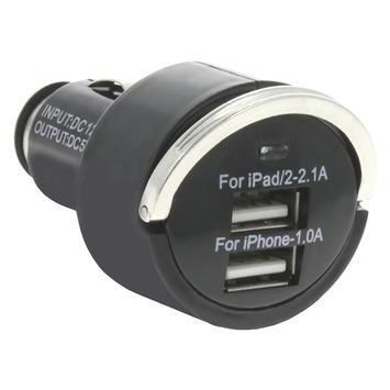 Q-link autolader 2x USB zwart