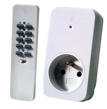 Trust Smarthome AC-200R dimset met 1 stopcontactdimmer max. 200 W en afstandsbediening met 16 kanalen