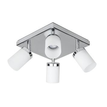 Spots à encastrer LED intégrée 6,4 W 345 lumens chromé iDual Citrine 4 pièces avec télécommande