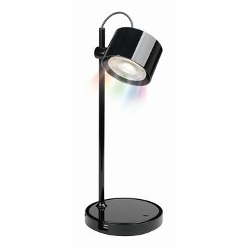 iDual Jasmine tafellamp met geïntegreerde LED 8,5 W 400 lumen zwart incl. afstandsbediening