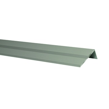 Trapkant donker aluminium 110 cm 42x22 mm