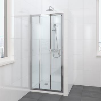 Porte coulissante de douche Lino 3 parties 90x195 cm chromé