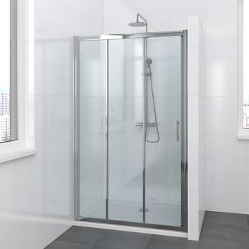 Lino schuifdeur 3-delig 110x195 cm chroom