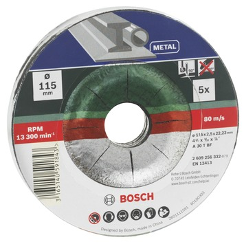 Bosch metaalslijpschijf 115 mm 5 stuks