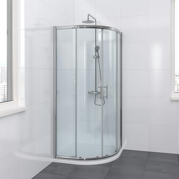 Lino douchewand 90x195 cm chroom | douchecabines-douchewanden ...