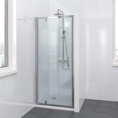 Lino draaideur 90x195 cm chroom