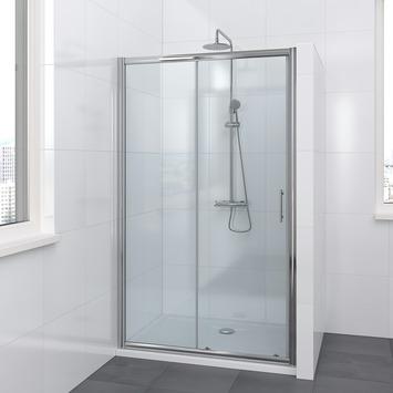 Lino schuifdeur 2-delig 120x195 cm chroom
