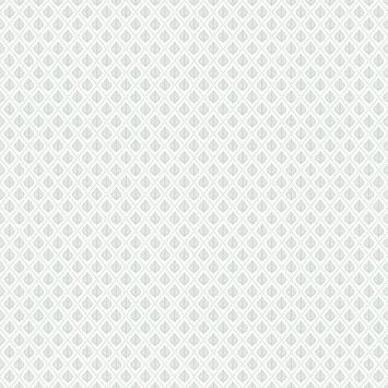 Vliesbehang Clover grijs 101813