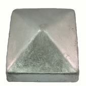 Tuinpaalafdekkap 90x90 mm zink