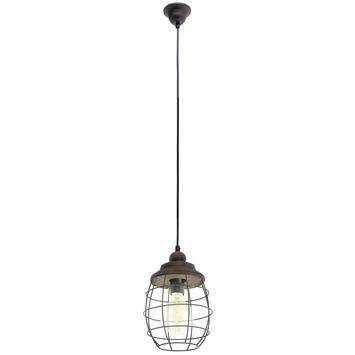 Suspension Bampton E27 max 60 W brun Vintage Eglo ampoule non fournie