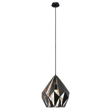 Eglo Vintage hanglamp Carlton E27 max 60 W exclusief lamp zwart