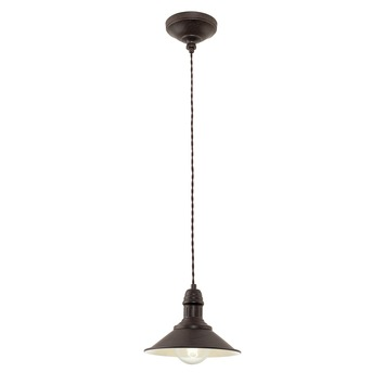 Eglo Vintage hanglamp Stockburry E27 max 60 W exclusief lamp 210 mm bruin