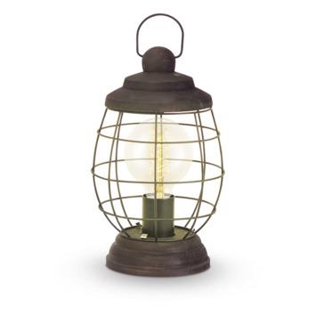 Eglo Vintage tafellamp Bampton E27 max 60 W exclusief lamp bruin