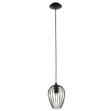 Eglo Vintage pendellamp Newtown E27 max 60 W exclusief lamp zwart