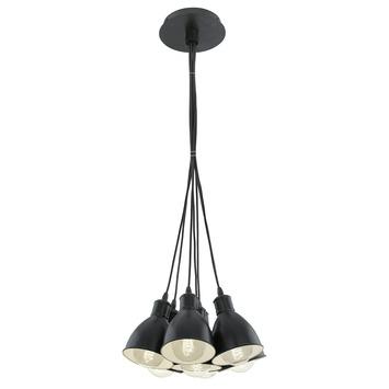 Eglo Vintage pendellamp Priddy E27 max 7x 60 W exclusief lamp zwart