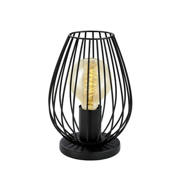 Eglo Vintage tafellamp Newtown E27 max 60 W exclusief lamp zwart