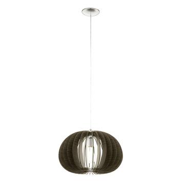Suspension Cossano E27 max 60 W brun Vintage Eglo 450 mm ampoule non fournie