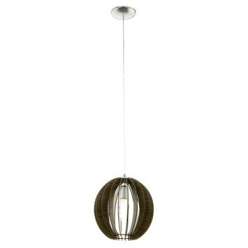 Eglo Vintage hanglamp Cossano E27 max 60 W exclusief lamp 300mm bruin