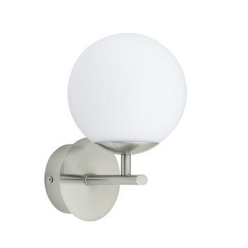 Applique Palermo Eglo Batholino avec ampoule LED 2,5 W 300 lumens nickel