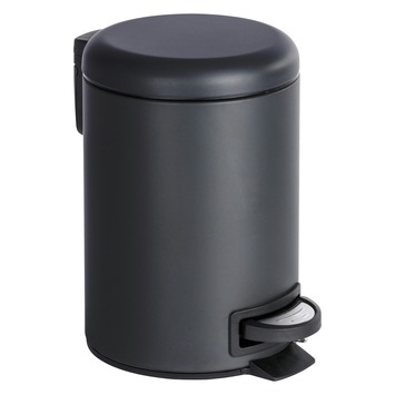 Afvalemmer Leman zwart 3 liter