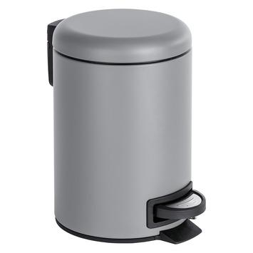 Afvalemmer Leman grijs 3 liter