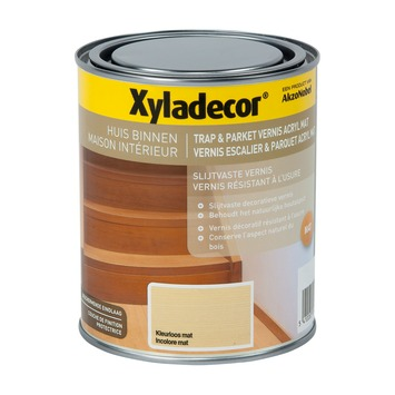 Xyladecor Trap & Parket vernis mat watergedragen kleurloos 750 ml