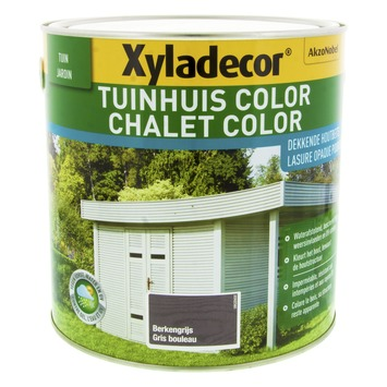 Lasure chalet color Xyladecor gris bouleau 2,5 L