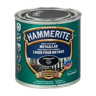 Hammerite metaallak zijdeglans zwart 250 ml | Speciaalverf ...