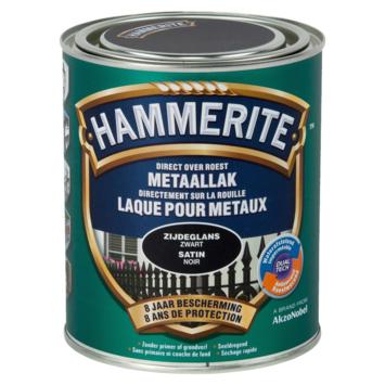 Laque pour métal Hammerite satin noir 750 ml