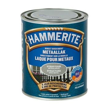 Hammerite metaallak structuur mat metaalgrijs 750 ml