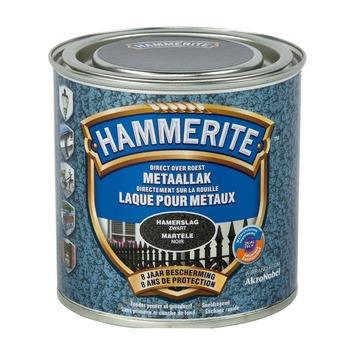 Laque pour métal Hammerite martelé noir 250 ml