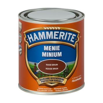 Peinture minium Hammerite 500 ml rouge brun