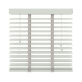 Store vénitien en bois GAMMA 50 mm 944 blanc 80x220 cm