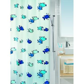 Rideau de douche Peva Hugo Spirella bleu 180x200 cm