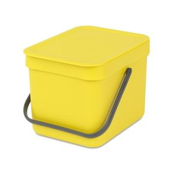 Brabantia Sort&Go afvalbak 6 l geel