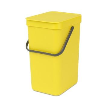 Brabantia Sort&Go afvalbak 12 l geel