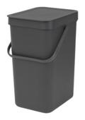 Brabantia Sort&Go afvalbak 12 l grijs