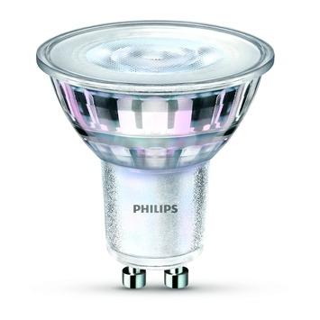 Spot LED Philips en verre GU10 4W = 35W 245 Lm dimmable Warm glow