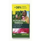 Terreau universel Agrofino 40 L + 20% gratuits
