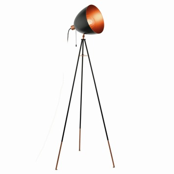 Eglo Modern Chester vloerlamp exclusief lamp E27 max. 60 W zwart