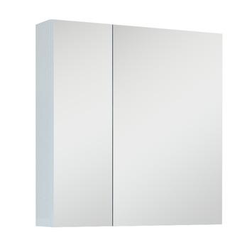 Spiegelkast met 2 deuren wit 60 cm