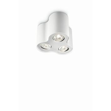 Plafonnier 3 spots Pillar Philips écohalogène 35W = 45W blanc