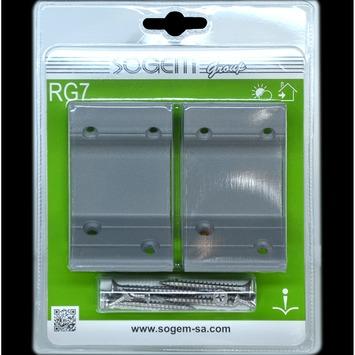 RG7 vaste aluminium grijze draagbeugels voor handgreep 2 stuks