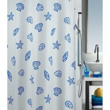 Rideau de douche Marine Spirella bleu 180x200 cm